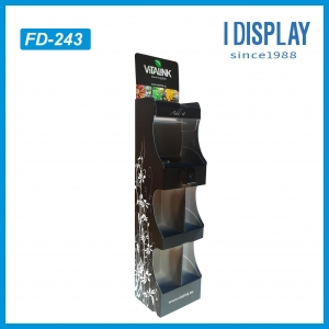 China Paper floor power wing display stand in market for retail on sale