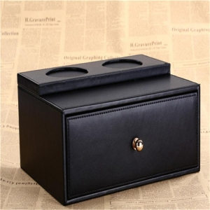 China Hotel guest room supplies drawer box one-time toiletries box leather drawer box custom wholesale on sale