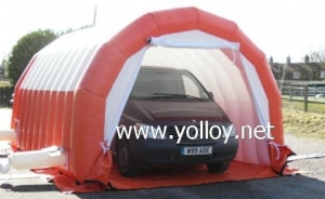 China Inflatable Car Tent Inflatable Car Painting Workstation Garage Tent on sale