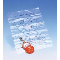 Adsafe CPR Face Shield w/Keychain Orange