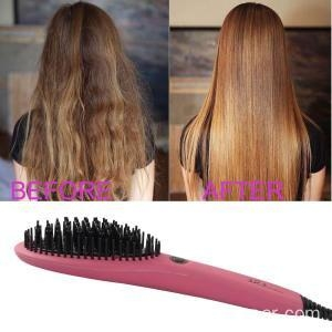 China 2017 Ceramic Electric Flat iron Brush Straightener on sale