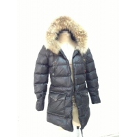 New Windproof Long Design Quilted Winter Jacket with Fur Hoodie