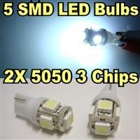 China White T10 Big 3Chips 5-SMD LED Bulbs on sale