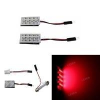 China LED 2PCS RED DOME MAP INTERIOR BULB TRUNK LIGHT BULB 12SMD PANEL LAMP L-501R on sale