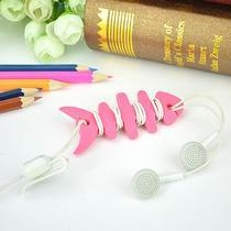 China CC-591 Fish TPR Wire Accessories Easy to Take Earphone line Collect on sale