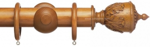 China Advent 47mm Traditional Wood Curtain Pole, Light Oak, Decorative Urn on sale