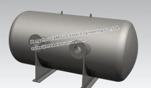 China Stainless Steel Industrial Steel Buildings Water Control Horizontal Bright Tank on sale