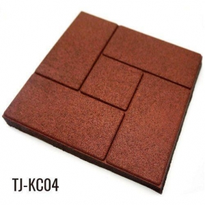 China 2cm Thick Outdoor Square Rubber Brick Pavers for Patio on sale