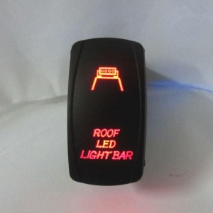 China 5PIN Waterproof Red LED Light Jeep Roof LED Light Bar Symbol Rocker Switch Toggle Switch on sale