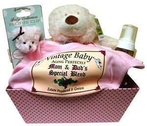 China Gift Baskets Pink Basket for Baby Girl on sale