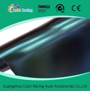 China Self Adhesive High Quality blue to purple color change chameleon vinyl vehicle wrapping film on sale