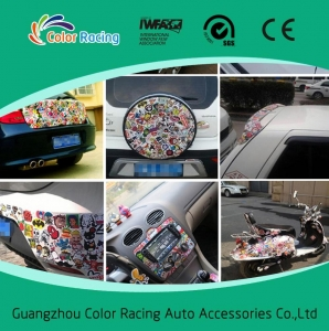 China Wholesale 1.52*30m Easy Removable PVC Material Graffti Cartoon Car Sticker on sale