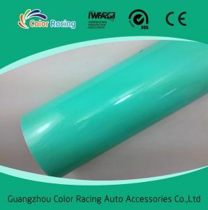 China High flexible PVC film glossy tiffany car vinyl wrap film on sale