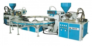 China Full automatic disc type double color injection molding machine on sale