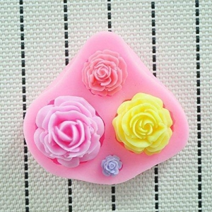 China Soap Mold Allforhome Rose Silicone Candle molds Soap mold Craft Moulds on sale
