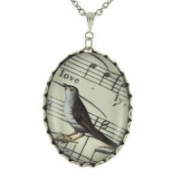 JEWELLERY Lovely Bird - Silver Sheet Music Necklace