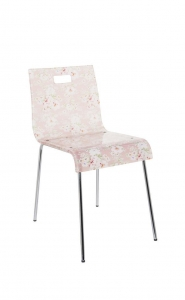 China Modern Appearance Clear Acrylic Dining Chair with Steel Legs on sale