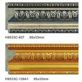China Durable PS Frame Moulding Plastic Baseboard Trim Skirting Board Profiles on sale