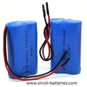 China 6.4 Volt 500mah Lifepo4 Battery Pack Rechargeable Light Use on sale