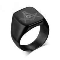 Cool Rock Men Masonic Rings Stainless Steel Big Wedding Rings For Men Jewelry High Quality Men Rings