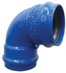 China PVC Pipe Fittings Ductile Iron Flexible Double Socket Bend on sale