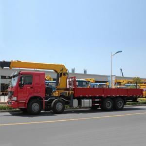 China CHINA SINOTRUK HOWO 6X4 Cheap 336hp 10 Wheeler Used and New Crane Mounted Boom Truck on sale