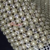 China Crystal ab rhinestone mesh ribbon trim wholesale on sale