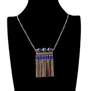 China 2016 New Arrival Bead Necklace With Metal Tassel Pendant on sale