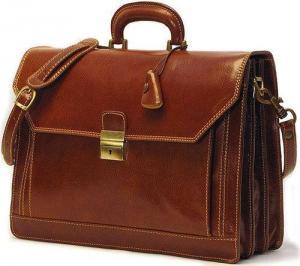 China Briefcases Buccio Carrara Italian Leather Briefcase on sale