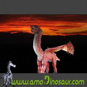 China Life-sized cartoon character animatronic dragon for sale on sale