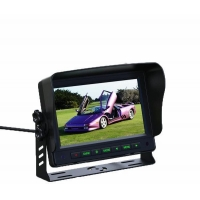 Car Monitor 7 inch TFT Color LCD Monitor 2 Vedio Input Monitor for Rearview Camera IR Remote Control