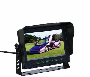 China Car Monitor 7 inch TFT Color LCD Monitor 2 Vedio Input Monitor for Rearview Camera IR Remote Control on sale