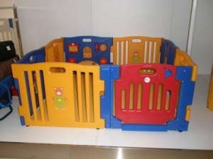 China Baby Diego Cub'Zone Playpen and Activity Center, Yellow/Blue/Red on sale
