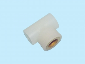 China PB Pipe and fittings PERT female threaded tee on sale