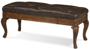 China Vintage Victorian Button Tufted Bedside Bench on sale