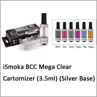 Clearomizers and Tanks Ismoka (Bottom Coil Changeable)Mega Clear Clearomizer(w/ silver)