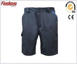 China Fashion design side pockets mens cargo shorts, elastic waist hip pockets shorts in khaki on sale