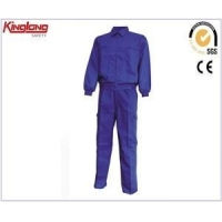 China Supplier long sleeeves blue uniform,mens safety uniform with elastic waist