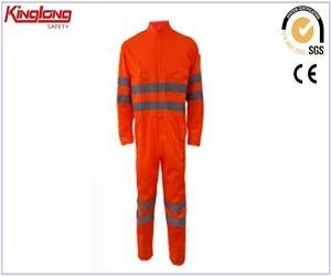 China work protective clothing men workwear coveralls with high quality reflective tape on sale