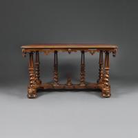 A late 19th century walnut Elizabethan revival writing desk