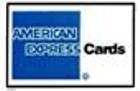 China American Express Credit Card Decal 15/16 x 1 3/8 on sale