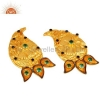 China 18K Gold Plated Emerald Green CZ Earring for sale