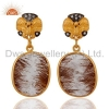 China Handmade Rutilated Quartz Earrings for sale