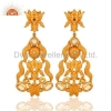 China 18K Gold-Plated Sterling Silver Citrine Earrings for sale