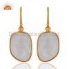 China Gold Vermeil Bezel- Set Gemstone Earrings for sale