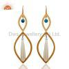 China Handmade 925 Silver Topaz Gemstone Earrings for sale