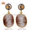China Rutile Quartz Gemstone Earrings for sale