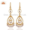 China Gold Plated Sterling Silver Earrings for sale