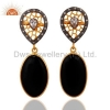 China Sterling Silver Black Onyx Earrings for sale