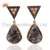 China Handmade Tourmalinated Quartz Earrings for sale